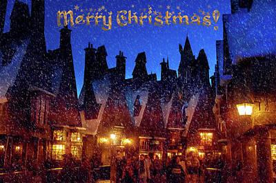 A Hogsmeade Christmas Poster