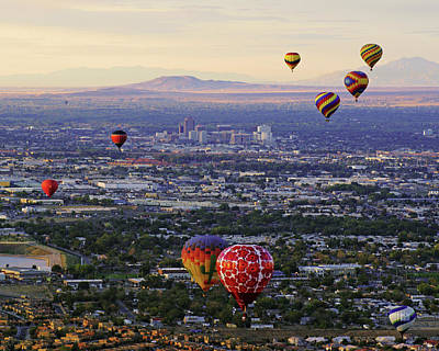 A Hot Air Ride To Albuquerque Cropped Poster by Daniel Woodrum