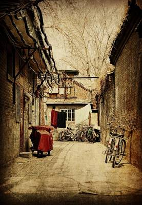 A Hutong In Beijing Poster by Toni Abdnour