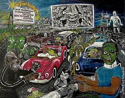 A I P Monster Movie Marathon At The Twilight Drive - In  La Porte Indiana Poster