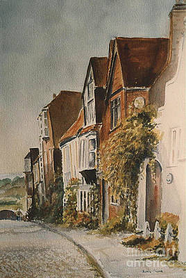 Poster featuring the painting A Lane In Rye by Beatrice Cloake