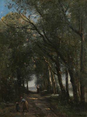 A Lane Through The Trees Poster by Jean-Baptiste-Camille Corot