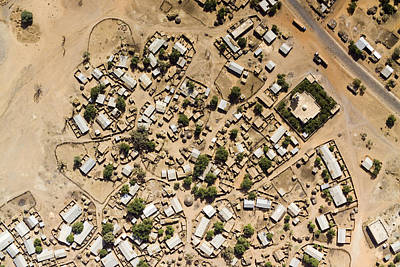 A Large Sahelian Town In Western Mali Poster by Michael Fay