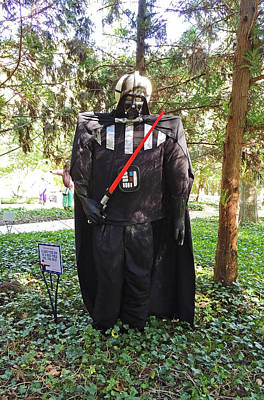 A Long Time Ago In A Corn Field Far Far Away Scarecrow At Cheekwood Botanical Gardens Poster