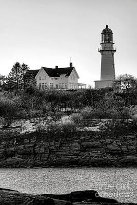 Poster featuring the photograph A Long Winter At Cape Elizabeth by Olivier Le Queinec