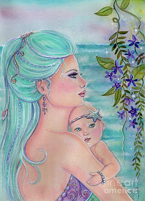 A Love Like No Other Mermaids Poster by Renee Lavoie