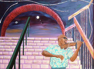 Poster featuring the painting A Love Supreme by Kevin Callahan
