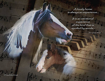 A Lovely Melody Poster by Terry Kirkland Cook