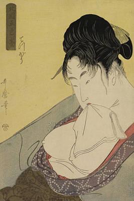 A Low Class Prostitute Poster by Kitagawa Utamaro