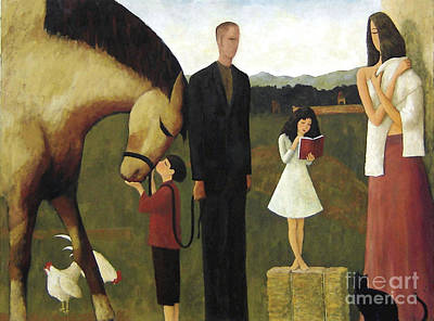 Poster featuring the painting A Man About A Horse by Glenn Quist