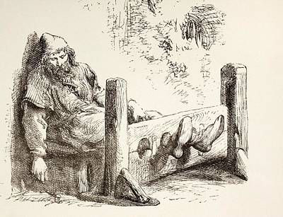 A Man In Stocks. From The Illustrated Poster