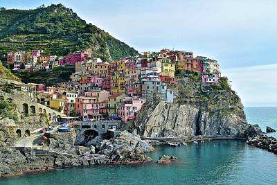 Poster featuring the photograph A Manarola Morning by Frozen in Time Fine Art Photography