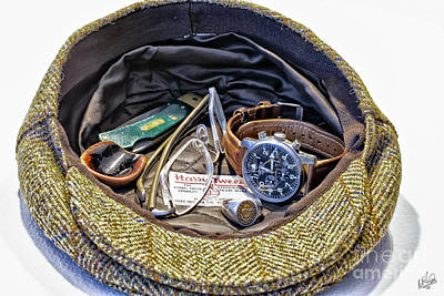 Poster featuring the photograph A Man's Items by Walt Foegelle