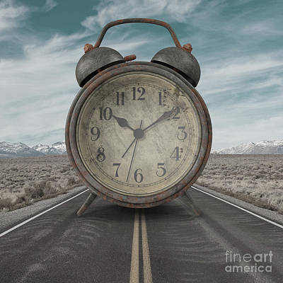 Poster featuring the photograph A Matter Of Time Surreal by Edward Fielding