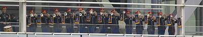A Military Band Of Trumpeters Performs Poster by Panoramic Images