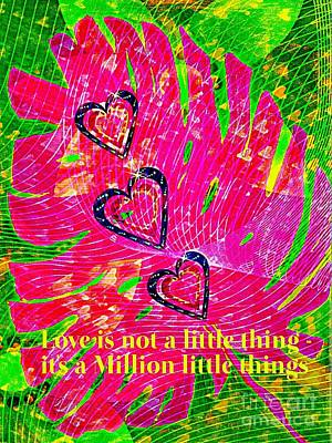 A Million Little Things  Poster by ARTography by Pamela Smale Williams