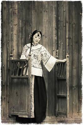 A Model In A Period Costume. Poster