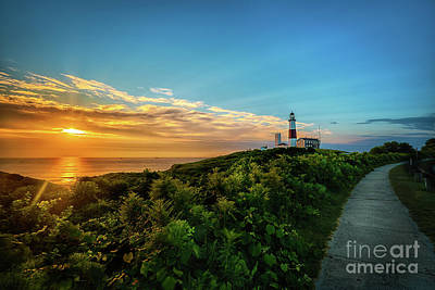 A Montauk Lighthouse Sunrise Poster