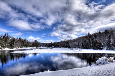 Poster featuring the photograph A Moose River Snowscape by David Patterson