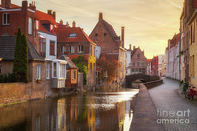 A Morning In Brugge Poster by JR Photography
