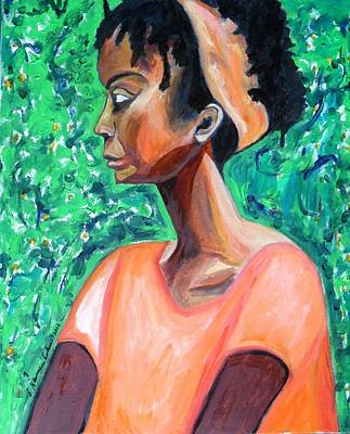 Poster featuring the painting A New Queen Of Sheba by Esther Newman-Cohen