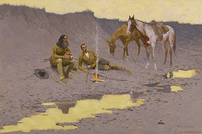 A New Year On The Cimarron Poster by Frederic Remington
