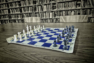 Poster featuring the photograph A Nice Game Of Chess by Lewis Mann