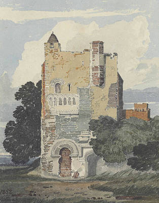 A Norman Tower Poster by John Sell Cotman