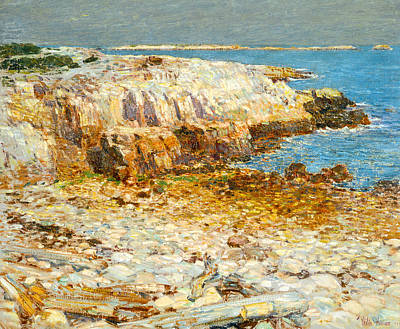 A North East Headland Poster by Frederick Childe Hassam