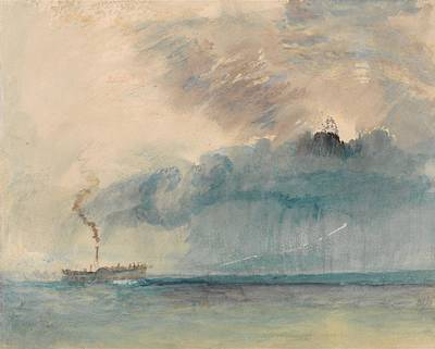 A Paddle-steamer In A Storm Poster by Grypons Art