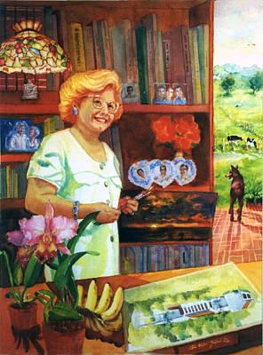 A Painters Bio Poster by Estela Robles