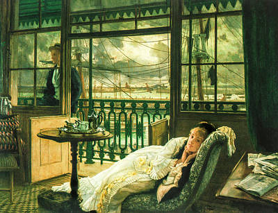 A Passing Storm 1876  Poster by Jacques Joseph Tissot