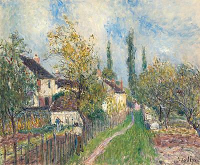 A Path At Les Sablons Poster