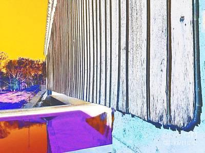 A Peek Beneath The Bridge - Abstract Poster by Scott D Van Osdol