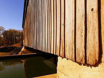 A Peek Beneath The Bridge - Setting Sun Poster by Scott D Van Osdol