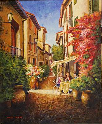 A Perfect Afternoon In Provence Poster by Santo De Vita