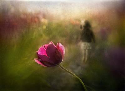 A Pink Childhood Memory Poster by Shenshen Dou