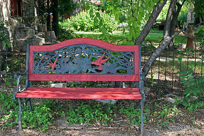 A Place To Rest In A Country Garden Poster