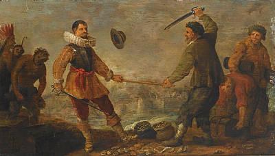A Political Allegory Poster by Adriaen van de Venne