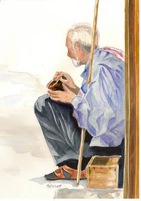 A Poor Man's Plight Poster by Marsha Elliott