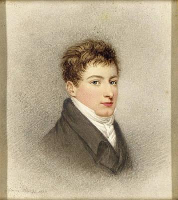 A Portrait Of J.g.m. Burt Wearing A Grey Coat And White Cravat Poster