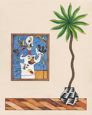 A Potato A Palm Tree Poster by Matt Leines