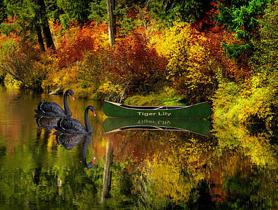 Poster featuring the photograph A Quiet Autumn Evening by Diane Schuster
