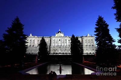 A Quiet Evening In Sabatini Gardens Madrid Poster