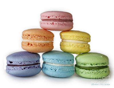 A Rainbow Of Macarons Poster by Barbara McMahon