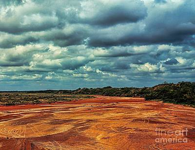 Poster featuring the photograph A River Of Red Sand by Diana Mary Sharpton