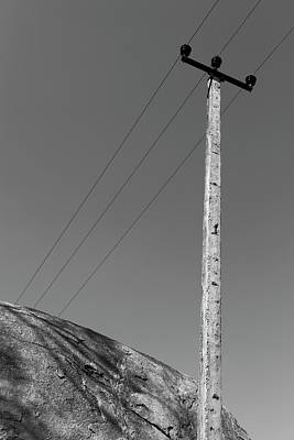 Poster featuring the photograph A Rock And A Pole, Hampi, 2017 by Hitendra SINKAR