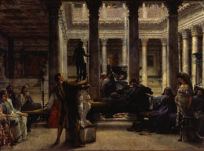A Roman Amateur Poster by Lawrence Alma