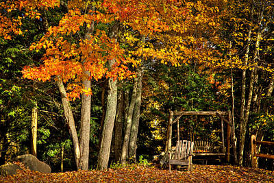 A Romantic Autumn Spot In Inlet Poster by David Patterson