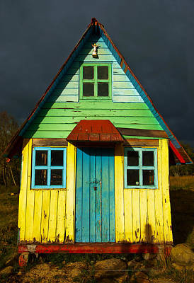 A Rustic Colorful House Poster